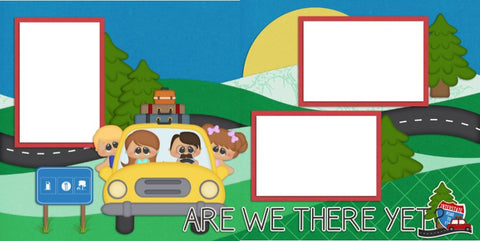 Are We There Yet? - Digital Scrapbook Pages - INSTANT DOWNLOAD