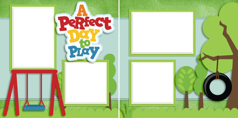 A Perfect Day to Play - Digital Scrapbook Pages - INSTANT DOWNLOAD