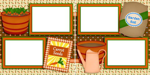 Carrot Seeds - Digital Scrapbook Pages - INSTANT DOWNLOAD