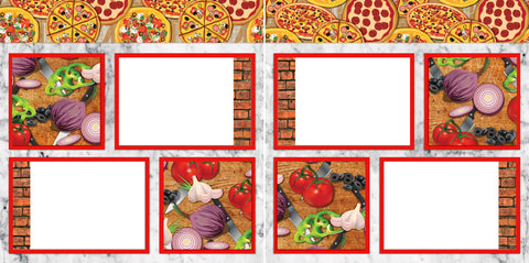 Fresh Ingredients - Digital Scrapbook Pages - INSTANT DOWNLOAD - EZscrapbooks Scrapbook Layouts pizza, takeout