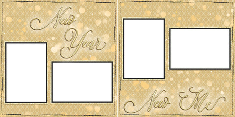 New Year New Me - Digital Scrapbook Pages - INSTANT DOWNLOAD - EZscrapbooks Scrapbook Layouts 2021, New Year's