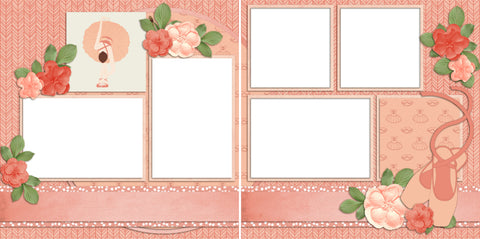Ballerina - Digital Scrapbook Pages - INSTANT DOWNLOAD - EZscrapbooks Scrapbook Layouts Sports