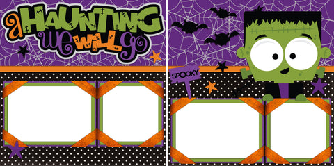 A Haunting We Will Go - Digital Scrapbook Pages - INSTANT DOWNLOAD