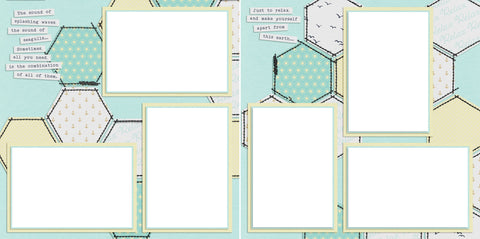 Just Relax - Digital Scrapbook Pages - INSTANT DOWNLOAD - EZscrapbooks Scrapbook Layouts Relax, Vacation