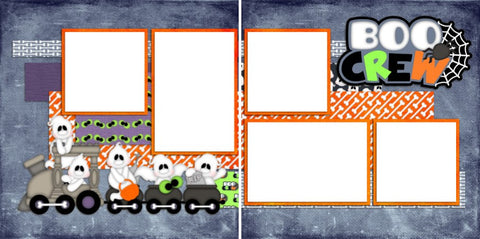 Boo Crew  - Digital Scrapbook Pages - INSTANT DOWNLOAD