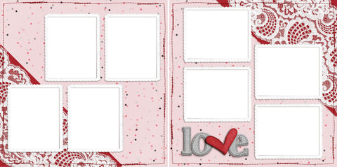 Love & Lace - Digital Scrapbook Pages - INSTANT DOWNLOAD