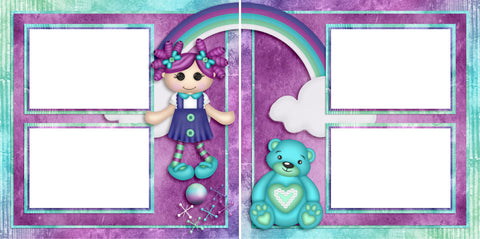 Toyland - Digital Scrapbook Pages - INSTANT DOWNLOAD - 2019