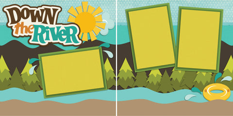 Down the River - 2241 - EZscrapbooks Scrapbook Layouts Camping - Hiking