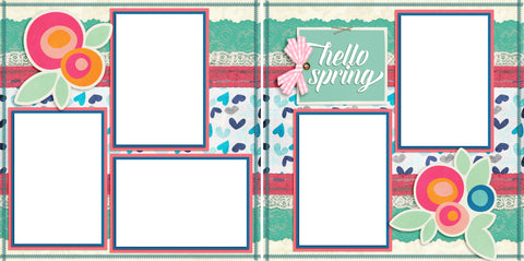 Hello Spring - Digital Scrapbook Pages - INSTANT DOWNLOAD
