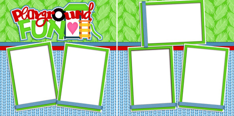 Playground Fun - Digital Scrapbook Pages - INSTANT DOWNLOAD