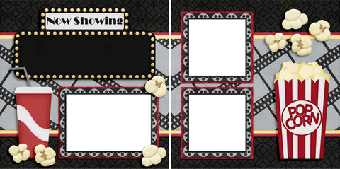 Now Showing - Digital Scrapbook Pages - INSTANT DOWNLOAD - EZscrapbooks Scrapbook Layouts Family, Other