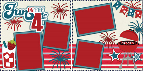 Fun on the 4th - 2138 - EZscrapbooks Scrapbook Layouts July 4th - Patriotic