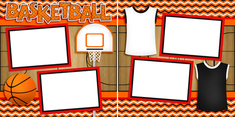 Basketball Game - Digital Scrapbook Pages - INSTANT DOWNLOAD