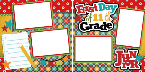 First Day of 11th Grade - Digital Scrapbook Pages - INSTANT DOWNLOAD - EZscrapbooks Scrapbook Layouts School