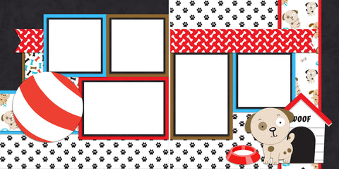 Puppy Love - Digital Scrapbook Pages - INSTANT DOWNLOAD
