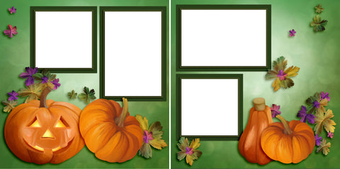 Pumpkins - Digital Scrapbook Pages - INSTANT DOWNLOAD