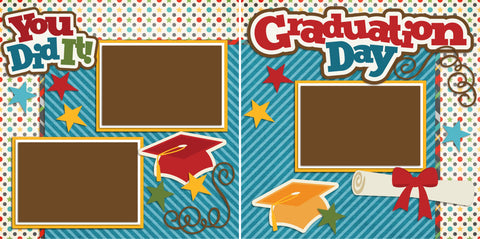Graduation Day You Did It - 2228 - EZscrapbooks Scrapbook Layouts School