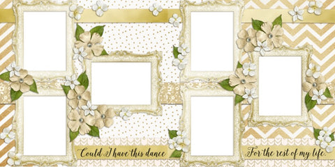 The Wedding - Seven - Digital Scrapbook Pages - INSTANT DOWNLOAD