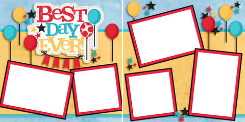 Best Day Ever - Digital Scrapbook Pages - INSTANT DOWNLOAD