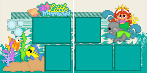 Little Mermaid - 2130 - EZscrapbooks Scrapbook Layouts Beach - Tropical, Disney, Swimming - Pool