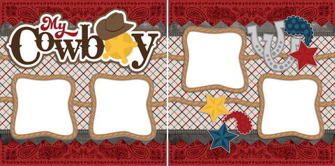 My Cowboy - Digital Scrapbook Pages - INSTANT DOWNLOAD - EZscrapbooks Scrapbook Layouts Boys, Western - Cowboy