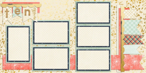 Baby Girl 10 Months - 710 - EZscrapbooks Scrapbook Layouts Baby - Toddler