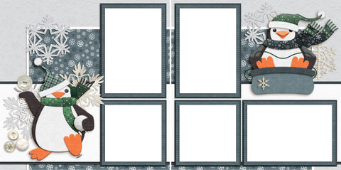 Snow Fun - Digital Scrapbook Pages - INSTANT DOWNLOAD