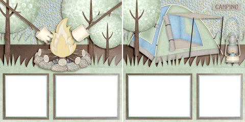 Camping - Digital Scrapbook Pages - INSTANT DOWNLOAD - 2019