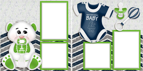 Adorable Baby Blue - Digital Scrapbook Pages - INSTANT DOWNLOAD - 2019