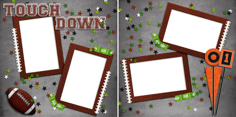 Touch Down - Digital Scrapbook Pages - INSTANT DOWNLOAD - EZscrapbooks Scrapbook Layouts football, Sports