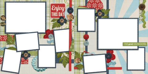 Enoy this Day - Digital Scrapbook Pages - INSTANT DOWNLOAD