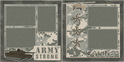 Army Strong - 735 - EZscrapbooks Scrapbook Layouts Military