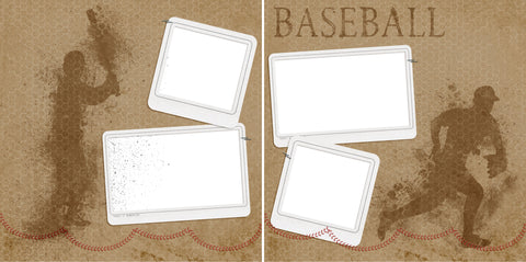 Baseball - Digital Scrapbook Pages - INSTANT DOWNLOAD - 2019