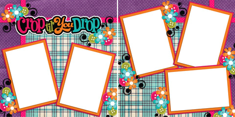 Crop Till You Drop - Digital Scrapbook Pages - INSTANT DOWNLOAD