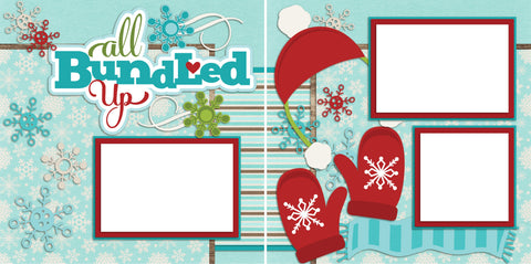 All Bundled Up - Digital Scrapbook Pages - INSTANT DOWNLOAD