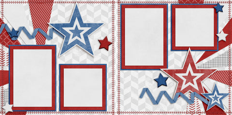 July 4th - Digital Scrapbook Pages - INSTANT DOWNLOAD - 2019