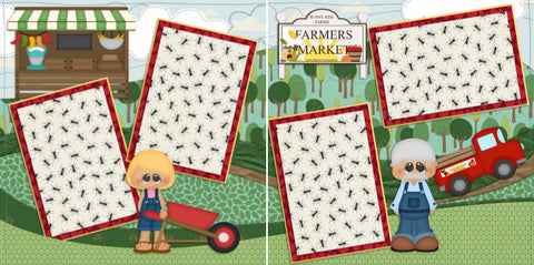 Farmers Market - 856 - EZscrapbooks Scrapbook Layouts Farm - Garden