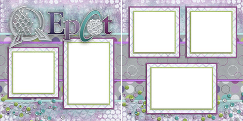 Epcot - Digital Scrapbook Pages - INSTANT DOWNLOAD - EZscrapbooks Scrapbook Layouts Disney