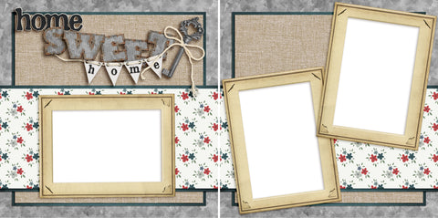 Home Sweet Home - Digital Scrapbook Pages - INSTANT DOWNLOAD