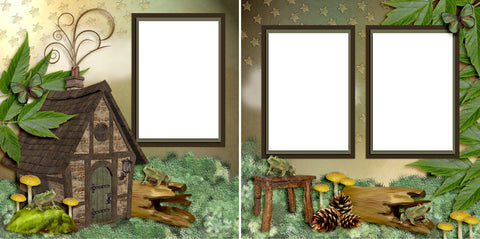 Cozy Cabin - Digital Scrapbook Pages - INSTANT DOWNLOAD