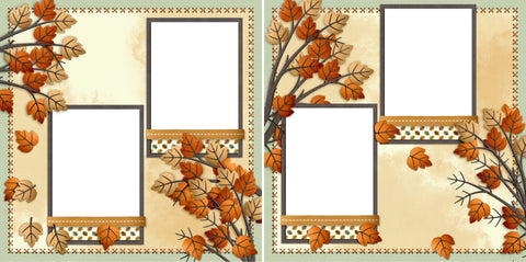 Fall Leaves - Digital Scrapbook Pages - INSTANT DOWNLOAD - 2019