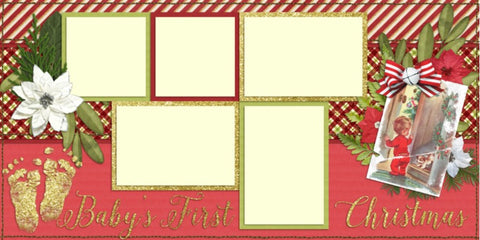 Baby's First Christmas - Digital Scrapbook Pages - INSTANT DOWNLOAD