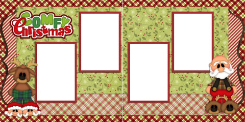 Comfy Christmas Digital Quick Page Set - INSTANT DOWNLOAD - EZscrapbooks Scrapbook Layouts Christmas