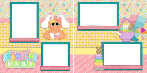 Easter Baby - Digital Scrapbook Pages - INSTANT DOWNLOAD - EZscrapbooks Scrapbook Layouts Baby - Toddler, Spring - Easter