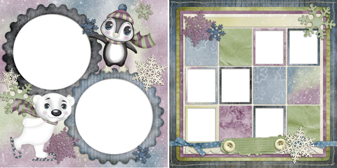 So Cold - Digital Scrapbook Pages - INSTANT DOWNLOAD