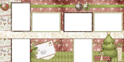 Cool Yule - Digital Scrapbook Pages - INSTANT DOWNLOAD - EZscrapbooks Scrapbook Layouts Christmas