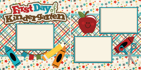 First Day of Kindergarten - 2215 - EZscrapbooks Scrapbook Layouts School