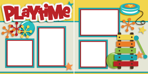 Playtime - Digital Scrapbook Pages - INSTANT DOWNLOAD