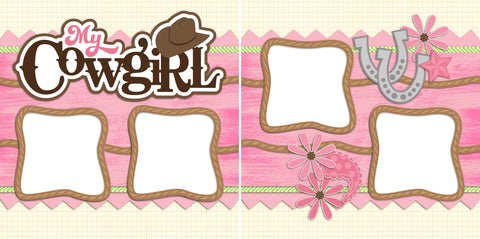 My Cowgirl - Digital Scrapbook Pages - INSTANT DOWNLOAD - EZscrapbooks Scrapbook Layouts Girls, Western - Cowboy