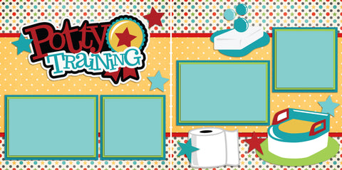 Potty Training - 2252 - EZscrapbooks Scrapbook Layouts Baby - Toddler